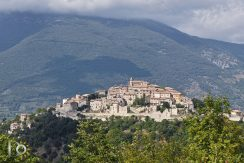 View Of The Country Of Cottanello, Rieti, Latium, Italy